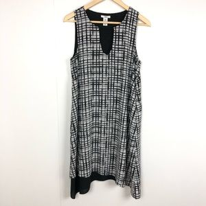 BAR III Sleeveless Grid Pattern Dress Medium